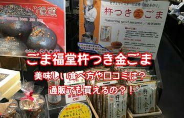 ごま福堂川崎大師杵つき金ごま美味しい食べ方や口コミは?テレビで人気のごまふりかけは通販で買える?