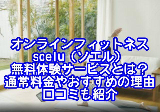 オンラインフィットネスsoelu(ソエル)無料体験サービスとは?通常料金やおすすめの理由と口コミも紹介