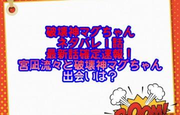 破壊神マグちゃんネタバレ1話最新話確定速報!宮凪流々と破壊神マグちゃんどの出会いは?