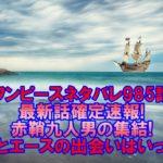 ワンピースネタバレ985話最新話確定速報!赤鞘九人男の集結でヤマトとエースの出会いはいったい!?