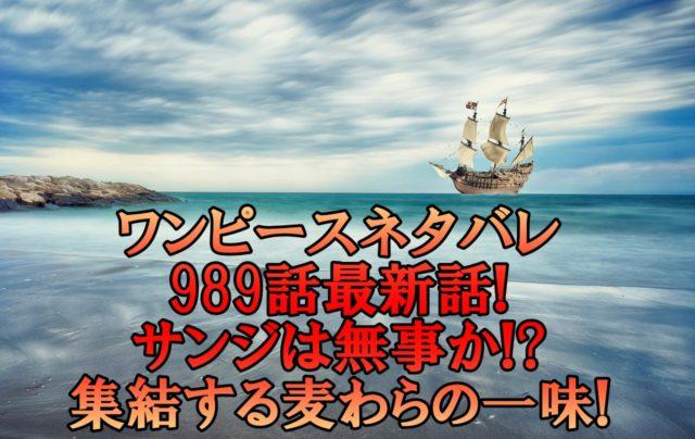 ワンピースネタバレ989話最新話確定速報!サンジは無事か集結する麦わらの一味!