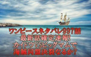ワンピースネタバレ997話最新話確定速報!カイドウVSビッグマムで海賊同盟決裂なるか?