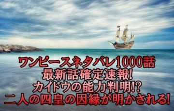 ワンピースネタバレ1000話最新話確定速報!カイドウの能力判明で二人の四皇の因縁が明かされる!
