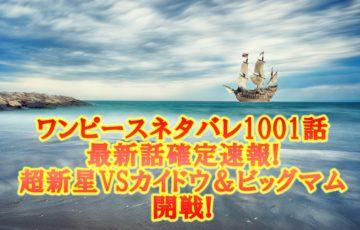 ワンピースネタバレ1001話最新話確定速報!超新星VSカイドウ&ビッグマム開戦!