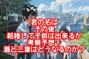 君の名はその後瀧と三葉の子供は出来るか?小説おすすめや天気の子出演はある?