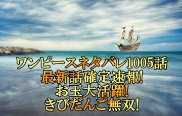 ワンピースネタバレ1005話最新話確定速報!お玉大活躍できびだんご無双!