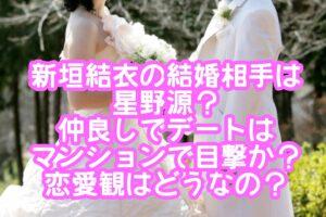 新垣結衣の結婚相手は星野源?仲良しでデートはマンションで目撃か?恋愛観